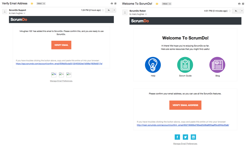 Before and After Welcome Email